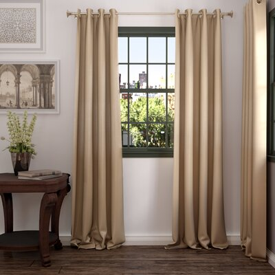Gediminas Vintage Dupioni Blackout Thermal Single Curtain Panel
