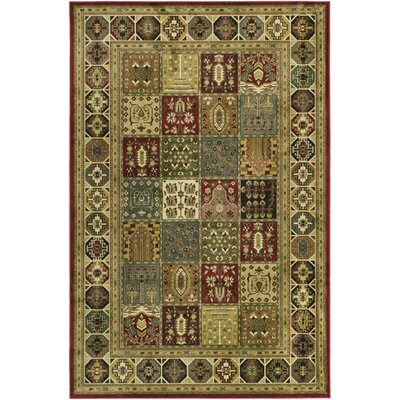 Randalholme Green/Burgundy/Cream Area Rug
