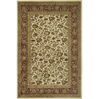 Randalholme Sage/Ivory/Red Area Rug Rug Size: Rectangle 23 x 36