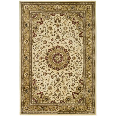 Randalholme Ivory/Sage/Red Area Rug Rug Size: Rectangle 23 x 36