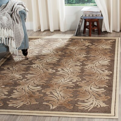 Ormside Tufted-Hand-Loomed Beige/Brown Area Rug Rug Size: 2'7