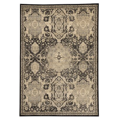 Witton Gray Area Rug Rug Size: 53 x 76
