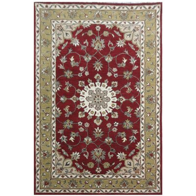 Bolesworth Hand-Tufted Rust/Cream Area Rug Rug Size: 5 x 8