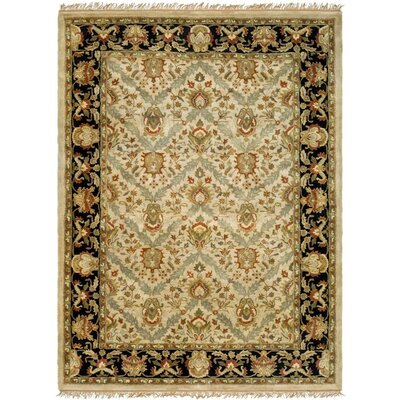 Balthrop Hand-Tufted Beige/Black Area Rug