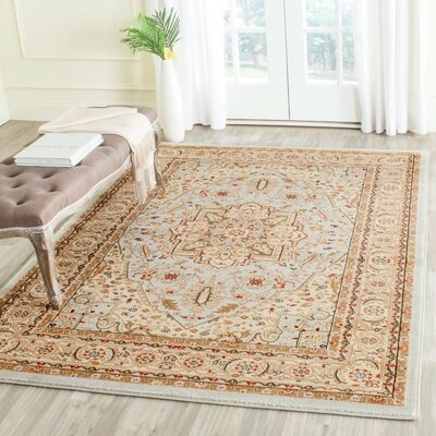 Richborough Gray/Beige Area Rug Rug Size: 53 x 76