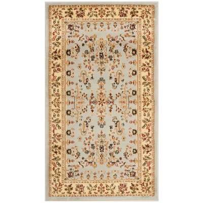 Richborough Gray/Beige Area Rug Rug Size: 33 x 53