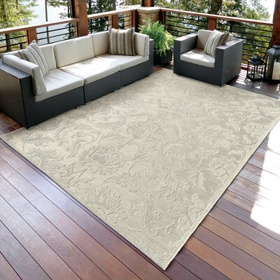 Norfolk Ivory Indoor/Outdoor Area Rug Rug Size: 77 x 1010