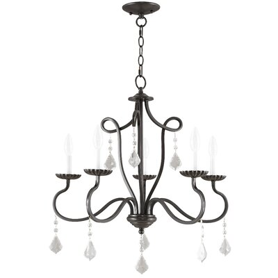Doncaster 5-Light Candle-Style Chandelier Finish: English Bronze