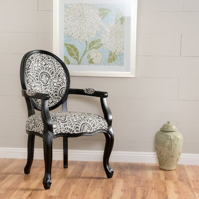 Akers Armchair Upholstery: Black/White