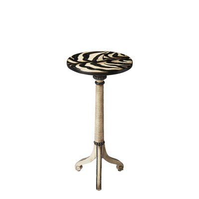 Berkeley Pedestal End Table Color: Distressed Zebra Stripe
