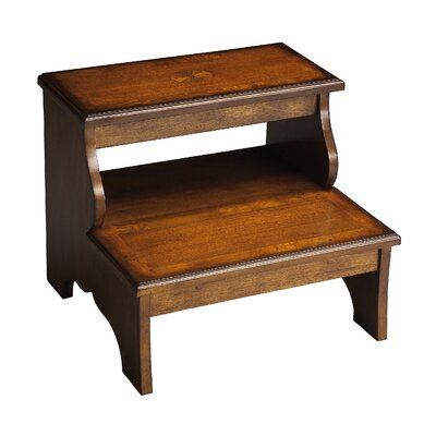 Copley 2-Step Wood Step Stool with 85 lb. Load Capacity