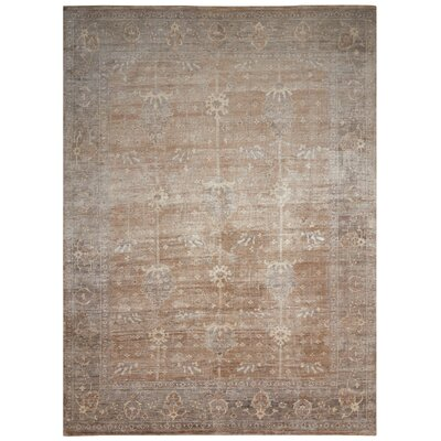 Bachar Hand-Knotted Pewter Area Rug Rug Size: Rectangle 9'9