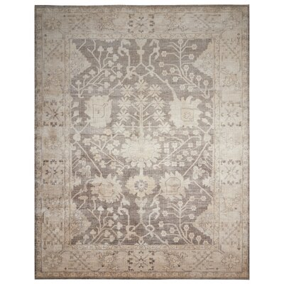 Bachar Hand-Knotted Aubergine Area Rug Rug Size: Rectangle 5'6