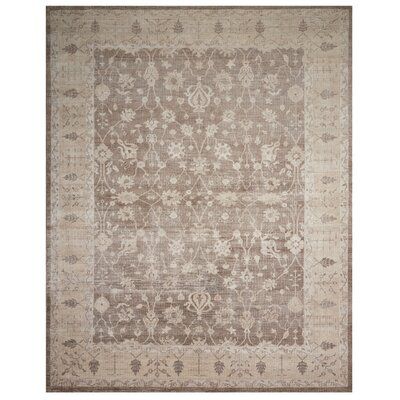 Bachar Hand-Knotted Sand Area Rug Rug Size: Rectangle 99 x 139