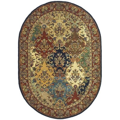 Balthrop Wool Hand Tufted Area Rug Rug Size: Oval 4'6