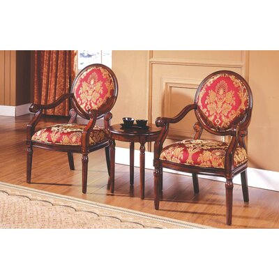 Ambassador 3 Pieces Living Room Arm Chair Set