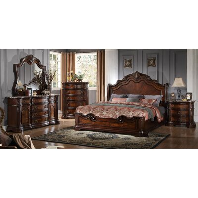 Fletcher Panel 5 Piece Bedroom Set Size: King