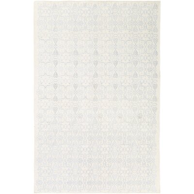 Barret Sky Blue/Ivory Area Rug Rug Size: Rectangle 5 x 76