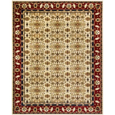 Batchelder Yellow/Beige Area Rug Rug Size: 8 x 10