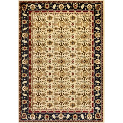 Batchelder Beige/Blue Area Rug Rug Size: Rectangle 5 x 76