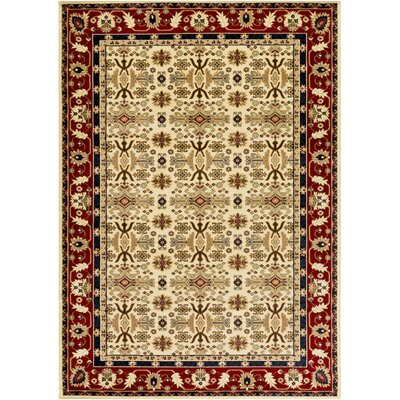 Batchelder Yellow/Beige Area Rug Rug Size: 2 x 3