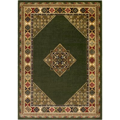Batchelder Green/Beige Area Rug Rug Size: 2 x 3