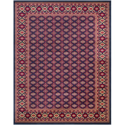 Batchelder Red Area Rug Rug Size: Rectangle 8 x 10