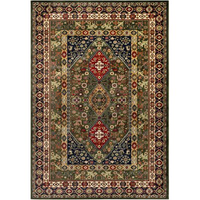 Batchelder Green/Red Area Rug Rug Size: Rectangle 2 x 3