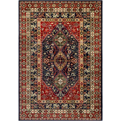 Batchelder Red/Blue Area Rug Rug Size: 2 x 3