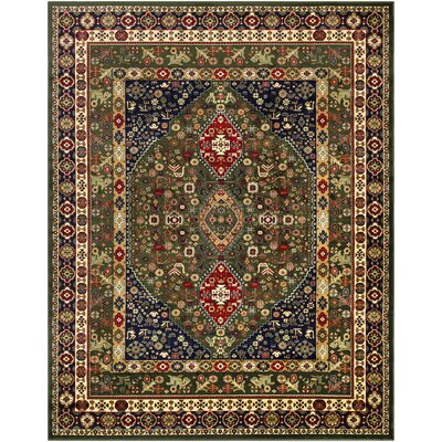 Batchelder Green/Red Area Rug Rug Size: Rectangle 8 x 10