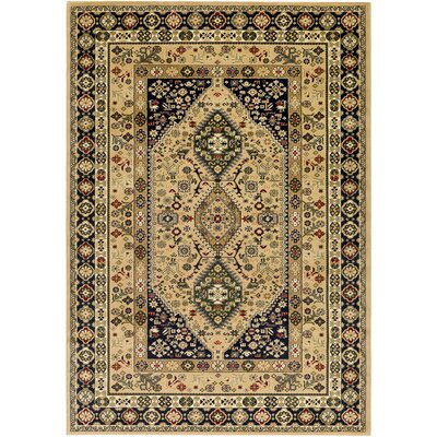 Batchelder Green/Beige Area Rug Rug Size: 5' x 7'6