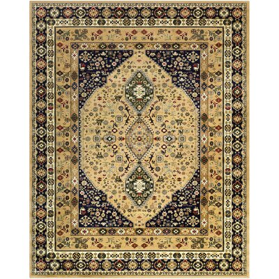 Batchelder Green/Beige Area Rug Rug Size: 8' x 10'