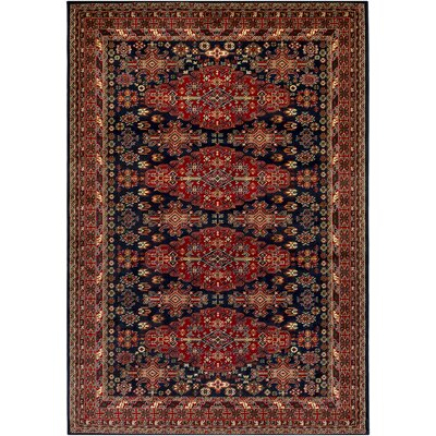 Batchelder Red/Blue Area Rug Rug Size: Rectangle 5 x 76