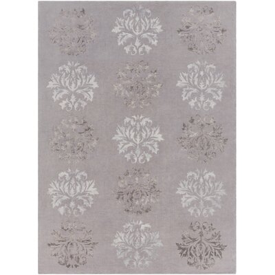 Barnes Hand-Tufted Medium Gray Area Rug Rug size: 8' x 11'
