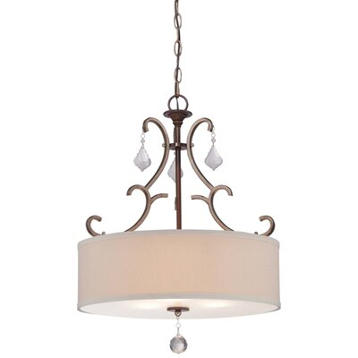 Bayle 3 Light Drum Pendant