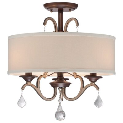 Bayle 3 Light Semi Flush Mount