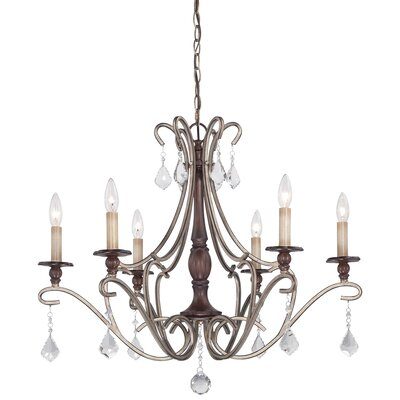 Bayle 6 Light Candle-Style Chandelier
