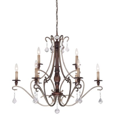 Bayle 9 Light Candle-Style Chandelier