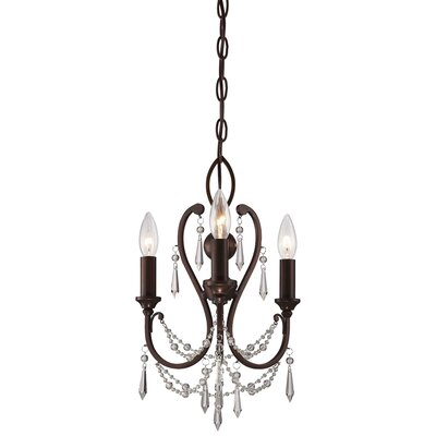 Bayles 3 Light Crystal Chandelier