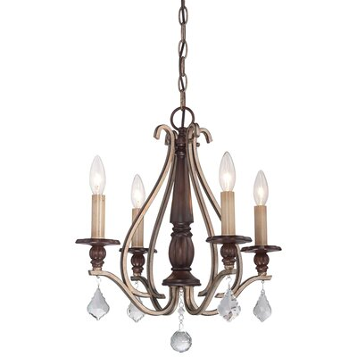 Bayle 4 Light Candle-Style Chandelier