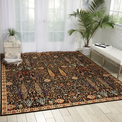 Charleson Navy Area Rug Rug Size: Rectangle 79 x 99