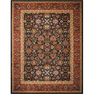 Charleson Red/Black Area Rug Rug Size: 86 x 116