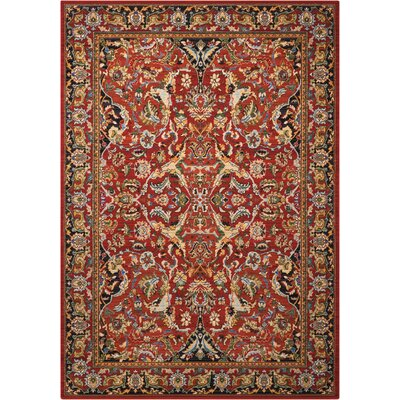 Charleson Red Area Rug Rug Size: Rectangle 56 x 8
