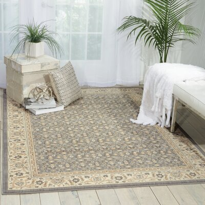 Carmorn Gray Area Rug Rug Size: Rectangle 36 x 56