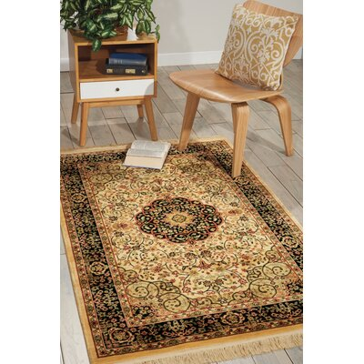Outlook Beige Area Rug Rug Size: 5'10