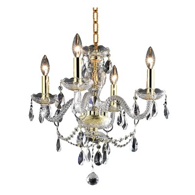 Ogden 4-Light Crystal Chandelier Finish: Gold