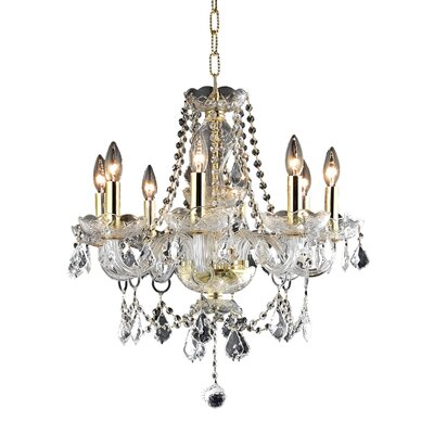 Ogden 8-Light Crystal Chandelier Finish: Chrome