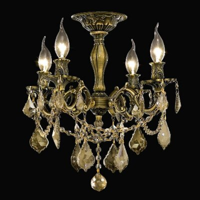 Utica 4-Light Crystal Chandelier Finish / Crystal Color / Crystal Trim: Antique Bronze / Clear / Spectra Swarovski