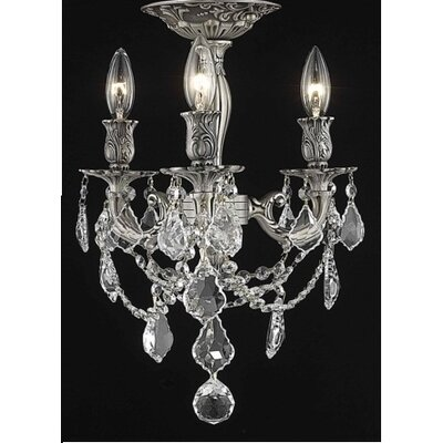Reading 3-Light Candle-Style Chandelier Crystal Color / Crystal Grade: Crystal (Clear) / Royal Cut
