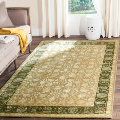 Bellview Ivory/Sage Area Rug Rug Size: Rectangle 4 x 6